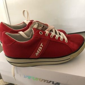 Women's MBT red shoes 6-6.5